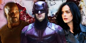 Luke Cage, Daredevil, Jessica Jones,  in The Defenders on Netflix