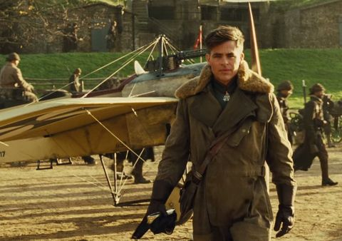 chris pine as steve trevor in wonder woman