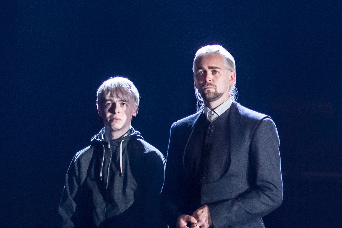 Harry Potter and the Cursed Child, Draco Malfoy, Scorpius Malfoy