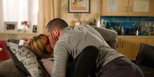 Maria and Aidan kiss