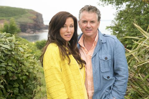 kat and alfie moon in the first official image from eastenders spinoff redwater