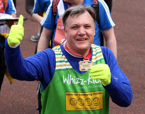 Ed Balls at Virgin London Marathon