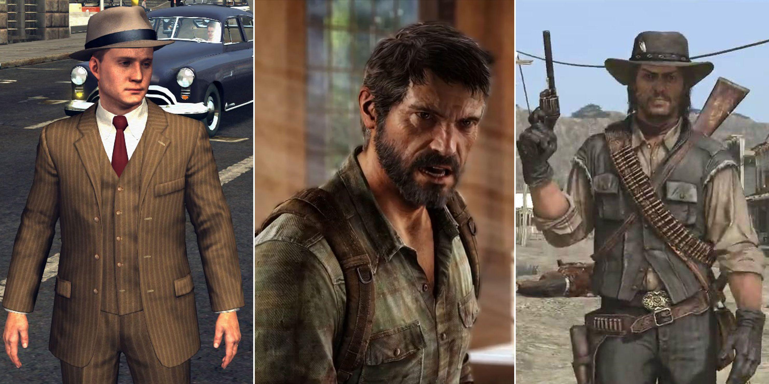 COMP La Noire, Last of Us, Red Dead Redemption