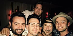 *NSYNC reunite for JC Chasez's 40th birthday.