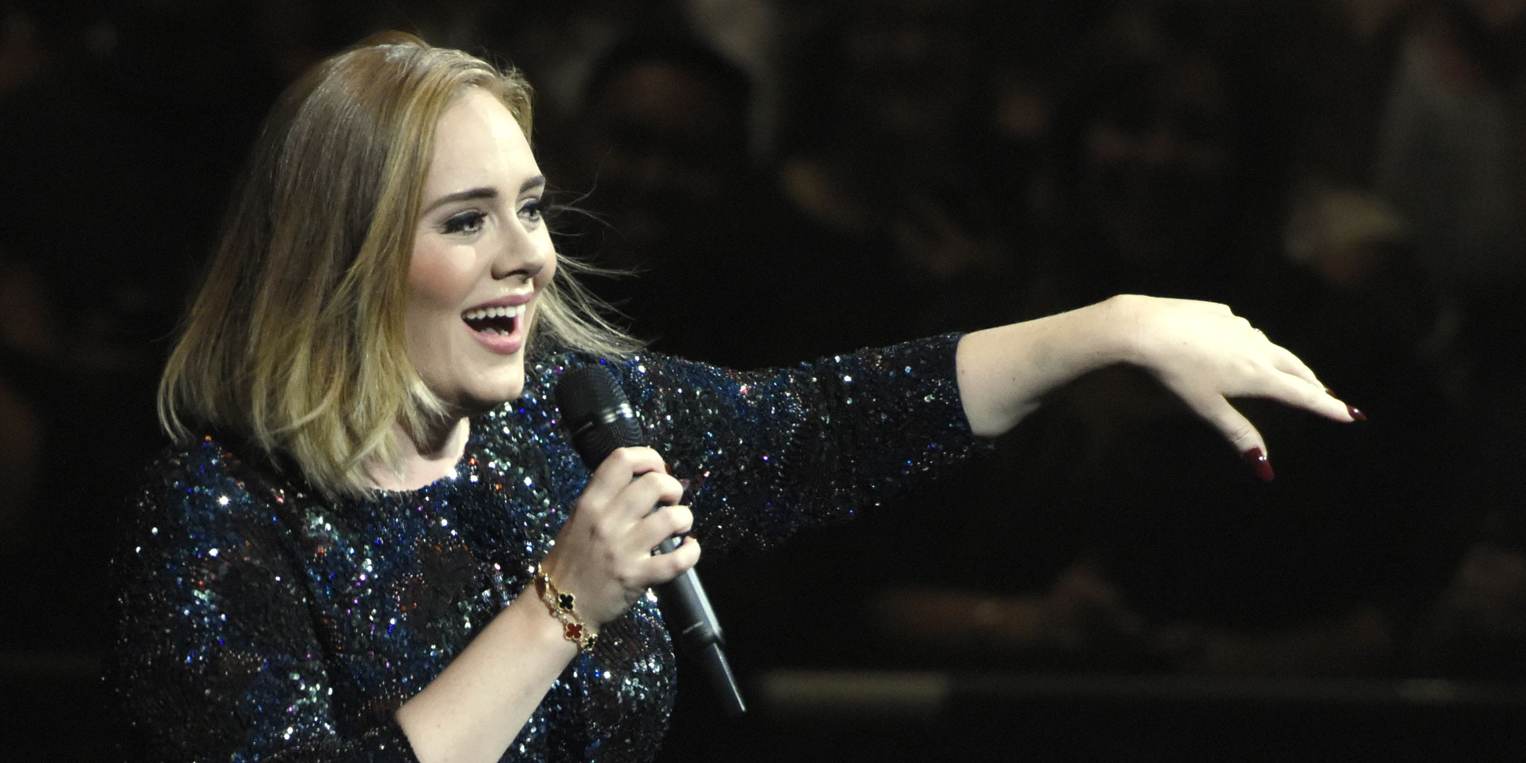 OAKLAND, CA - AUGUST 02: Adele performs during her 'Adele Live 2016' tour at ORACLE Arena on August 2, 2016 in Oakland, California.