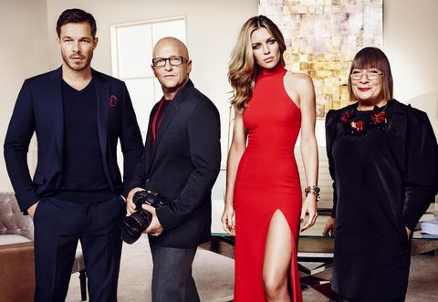 Britain's Next Top Model judges Abbey Clancy, Paul Sculfor, Hilary Alexander, Nicky Johnston