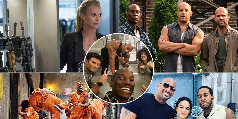 Fast 8, Charlize Theron, The Rock, Michelle Rodriguez, Ludacris, Tyrese, Vin Diesel, Nathalie Emmanuel, Jason Statham, Scott Eastwood