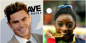 Zac Efron & Simon Biles side by side picture