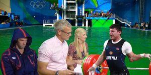 PHOTOSHOP Rio Olympics 2016, Green diving pool, Michael Phelps, Mark Foster, Rebecca Adlington, Andranik Karapetyan