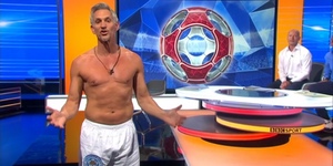 Gary Lineker presenting Match of the Day in his underwear
