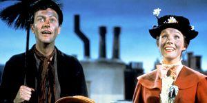 Dick Van Dyke, Julie Andrews, Karen Dotrice and Matthew Garber in Mary Poppins