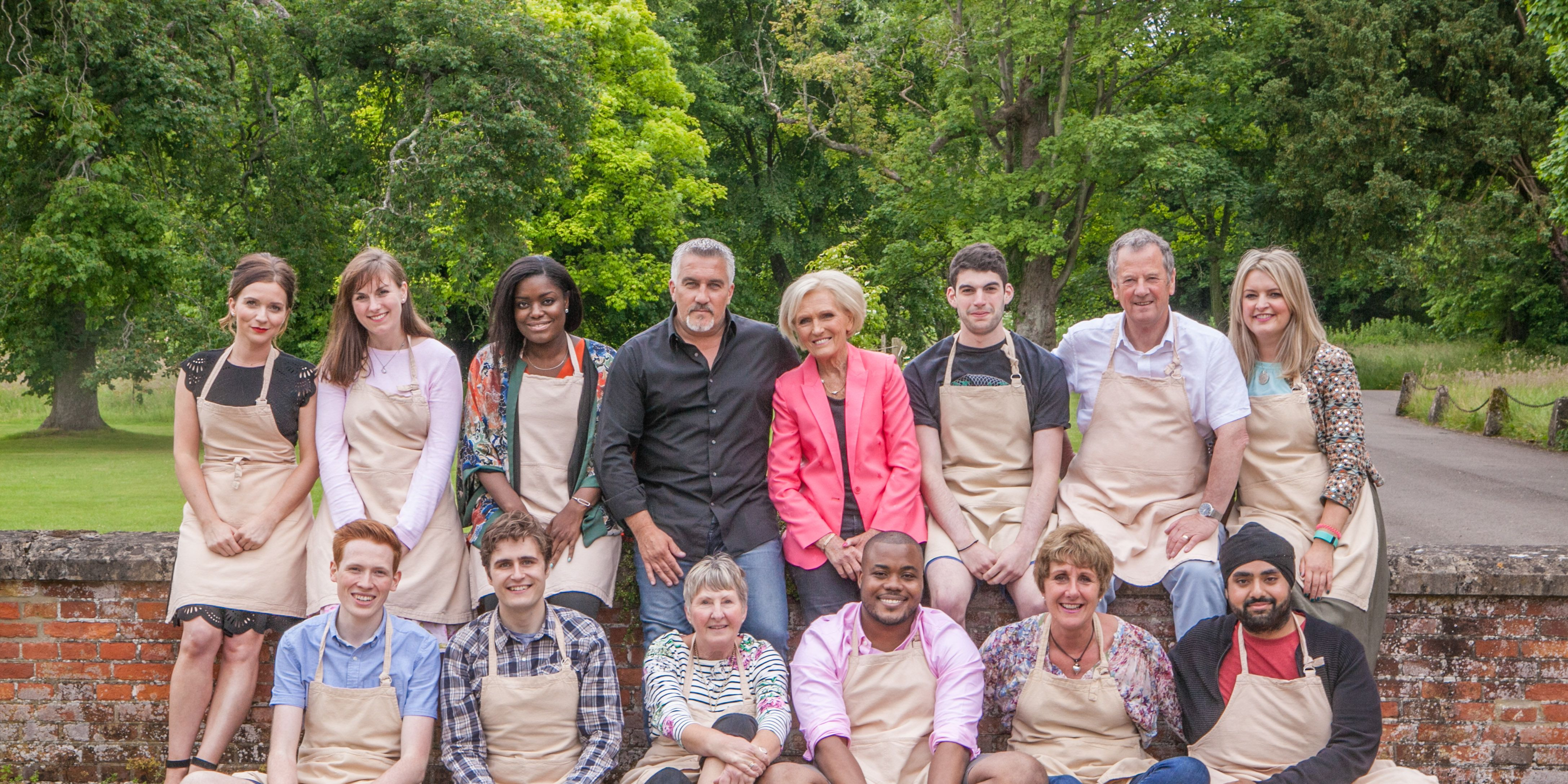 Great British Bake Off, GBBO, 2016 contestants and judges, Mary Berry, Paul Hollywood