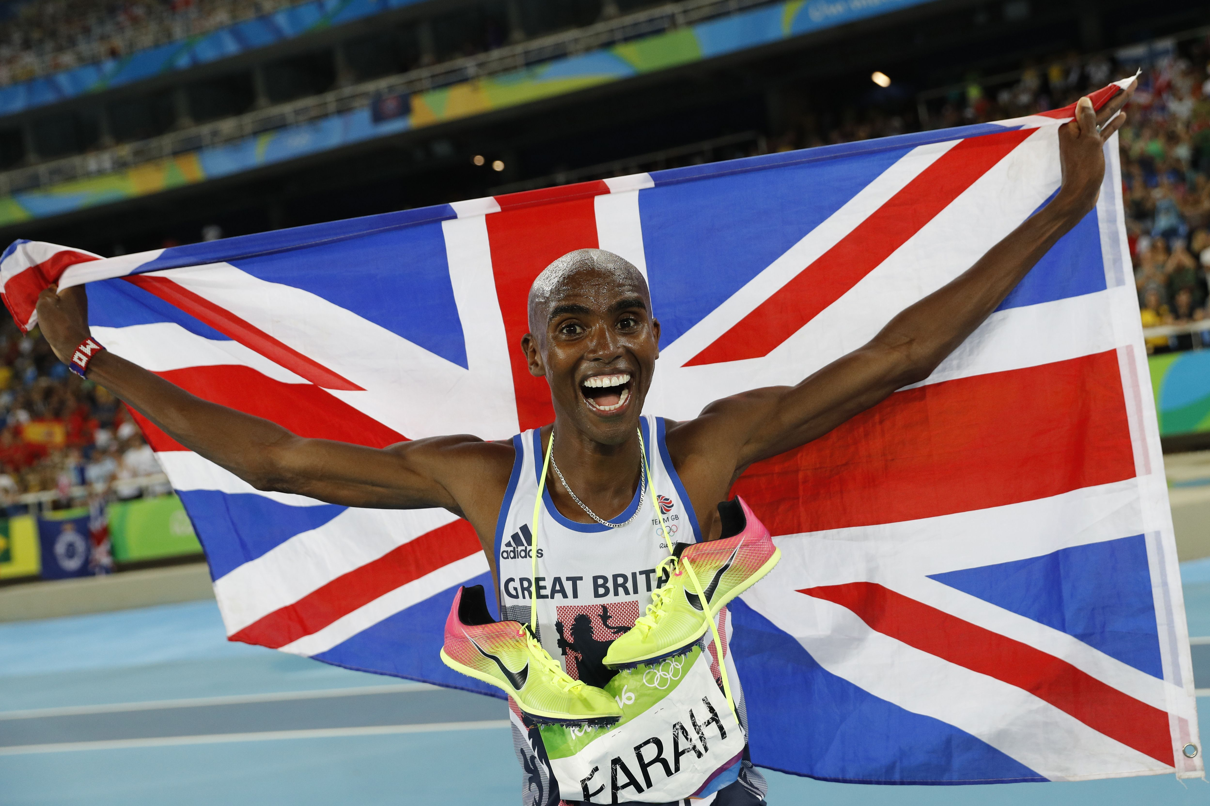 aae7d61065c1 Rio 2016  Watch an overjoyed Mo Farah s post-race interview as he  celebrates his fourth Olympics gold medal