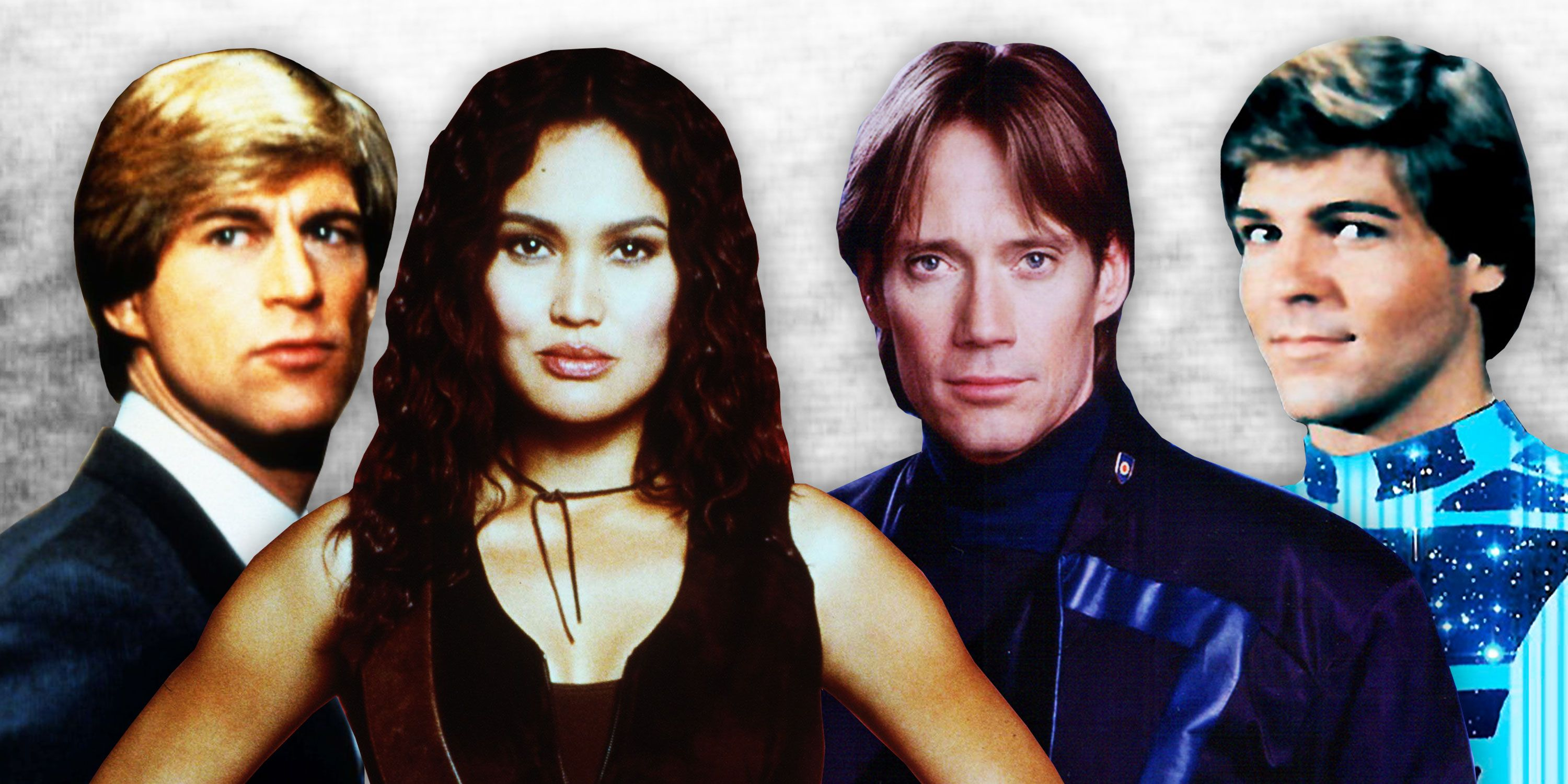 Simon MaCCorkindale in Manimal, Chuck Wagner as Automan, Kevin Sorbo in Andromeda, Tia Carrere in Relic Hunter