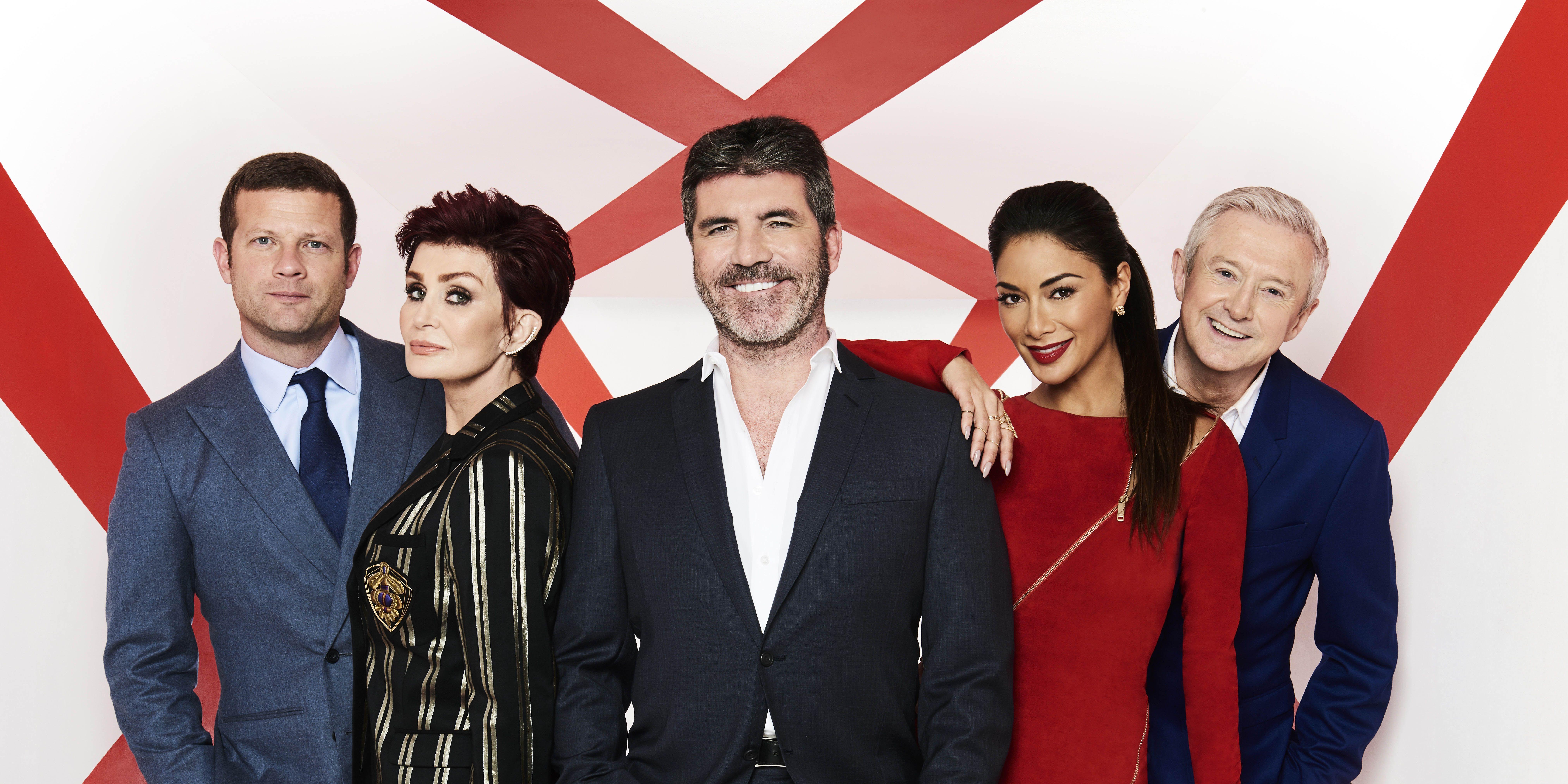 Dermot O'Leary, Sharon Osbourne, Simon Cowell, Nicole Scherzinger, Louis Walsh, X Factor, 2016