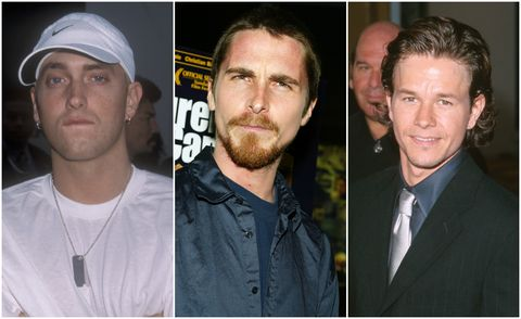Eminem, Christian Bale and Mark Wahlberg circa '00s