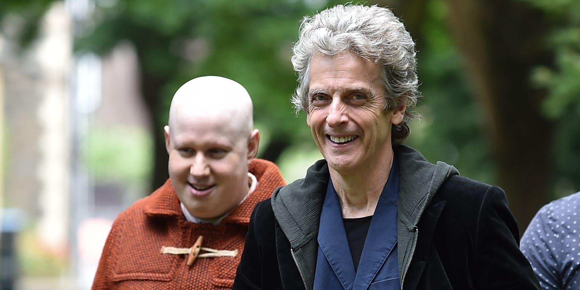 Matt Lucas and Peter Capaldi film Doctor Who series 10