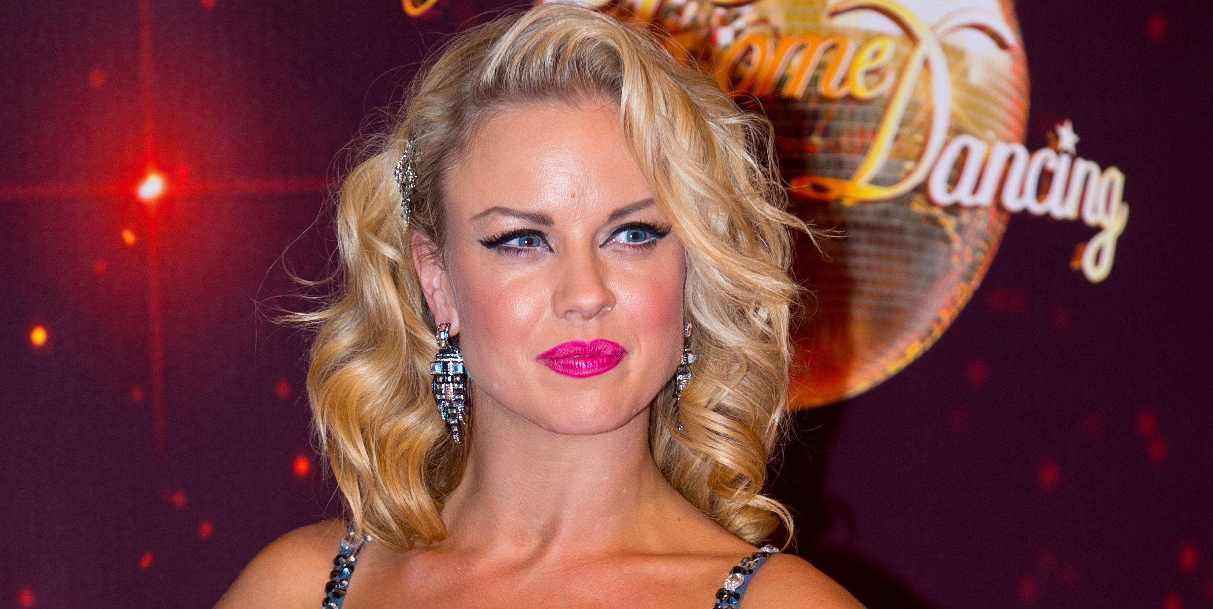 Joanne Clifton on the Strictly Come Dancing red carpet
