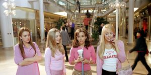 Mean Girls still, Lindsay Lohan, Amanda Seyfried, Lacey Chabert, Rachel McAdams