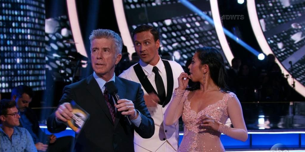 Ryan Lochte, Dancing with the Stars, DWTS, protestors storm stage