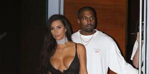 Kim Kardashian and Kanye West on Miami Beach on September 17, 2016 in Miami Beach, Florida