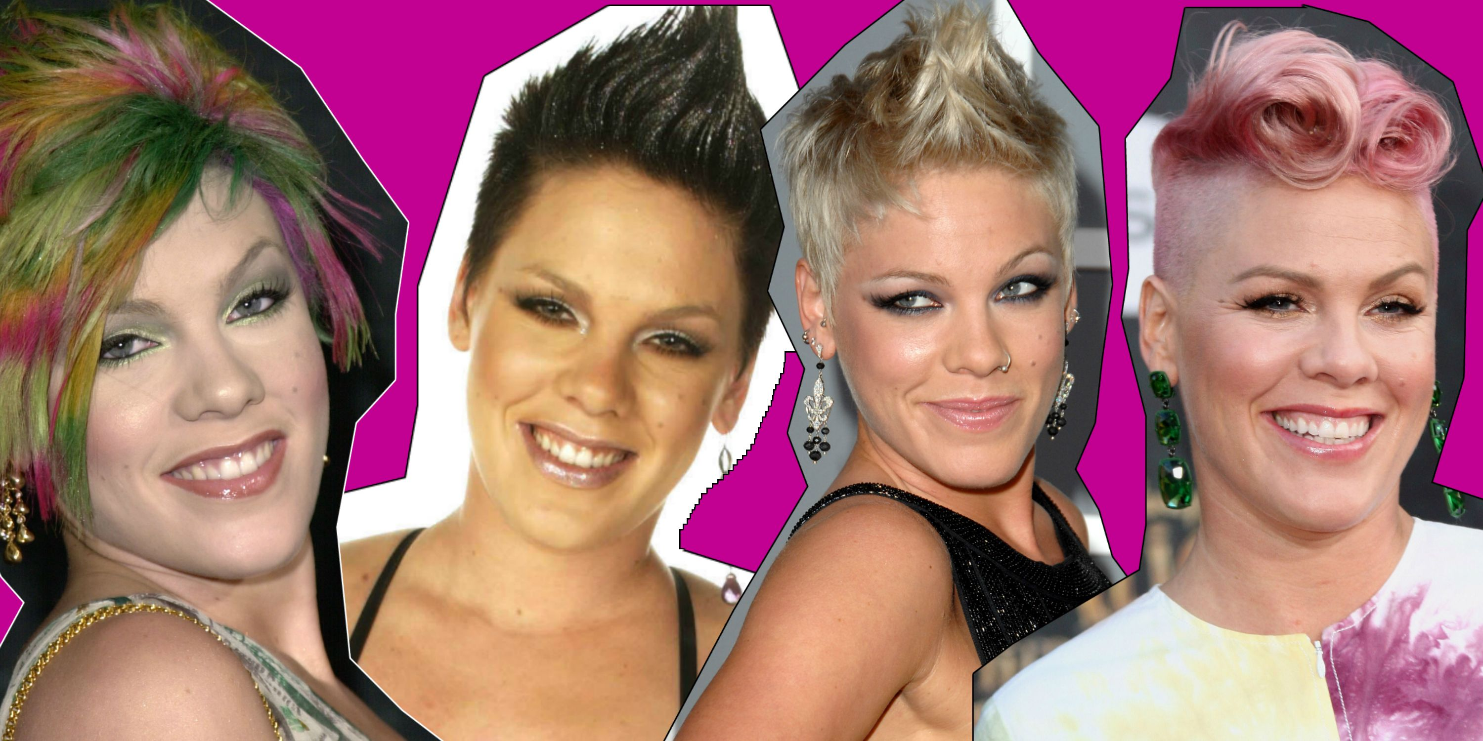 Pink through the years - 2000, 2002, 2007, 2016