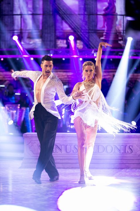Laura Whitmore and Giovanni Pernice on Strictly Come Dancing Episode 1