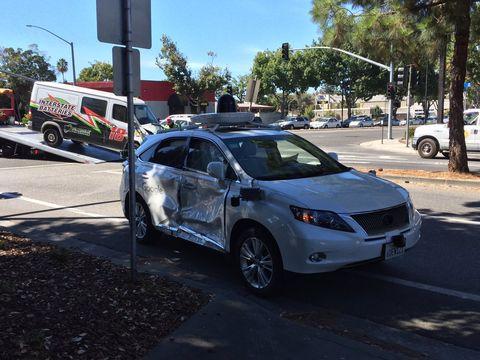 Google Car crash