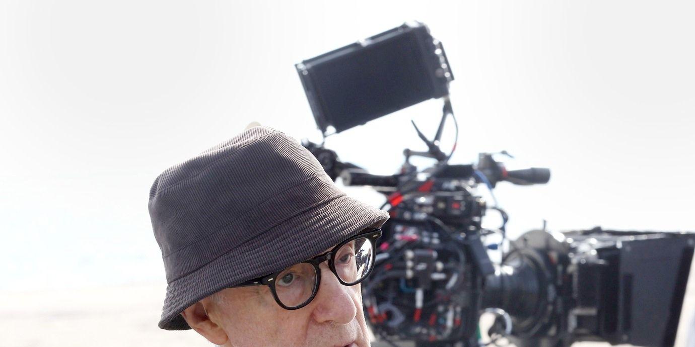 Woody Allen filming Woody Allen's new untitled movie