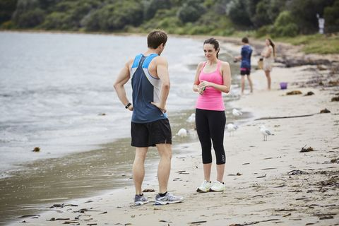 Nate Cooper and Tori Morgan are talking then not talking in Home and Away