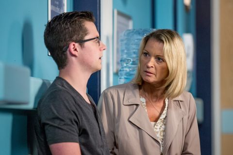 Ben Mitchell is annoyed when Kathy Beale shows up for his hospital appointment