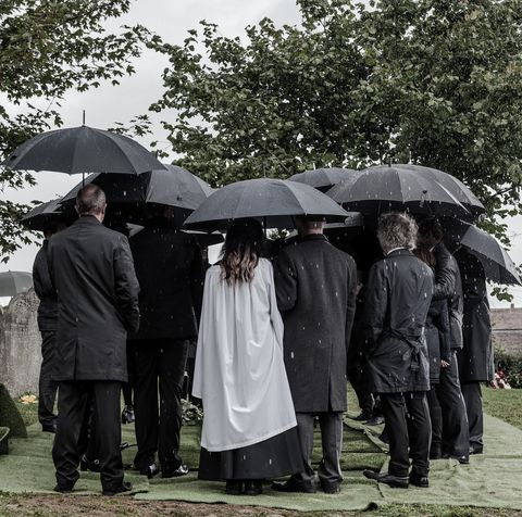Emmerdale's villagers gather for a funeral