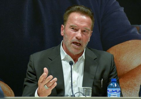 BARCELONA, SPAIN - SEPTEMBER 23: Arnold Schwarzenegger attends a press conference during the Arnold Classic Europe 2016.