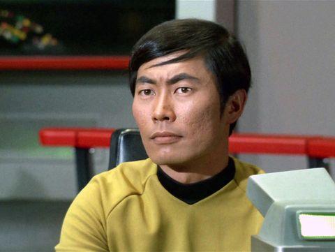 george takei as hikaru sulu in the star trek episode, 'spock's brain'