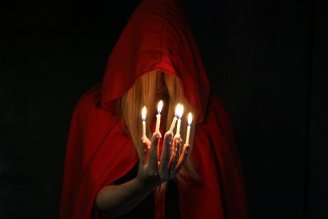 Lighting, Darkness, Red, Light, Candle, Carmine, Flame, Maroon, Tints and shades, Light fixture,