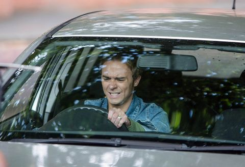 David Platt is frustrated when the car ignition fails to start