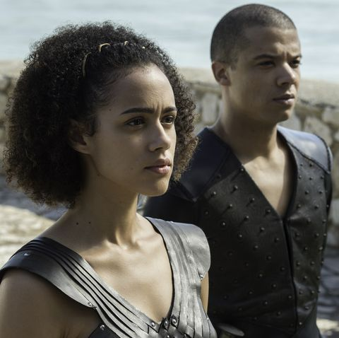 Missandei and Grey Worm in Game of Thrones