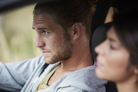Martin 'Ash' Ashford and Kat Chapman watch Justin in Home and Away