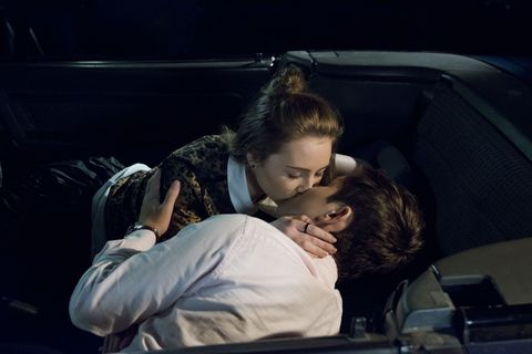 Piper Willis and Angus Beaumont-Hannay get close in Neighbours
