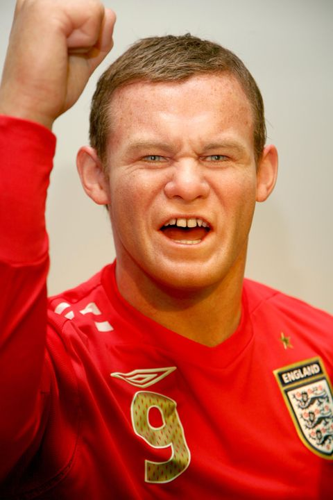 Wayne Rooney is unveiled as the latest waxwork figure, as part of a World at Your Feet Interactive feature at Madame Tussauds in London. (Photo by Tim Whitby/WireImage)