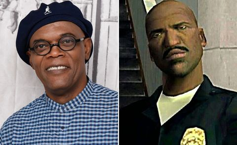 Samuel L Jackson as Officer Frank Tenpenny in Grand Theft Auto: San Andreas video game