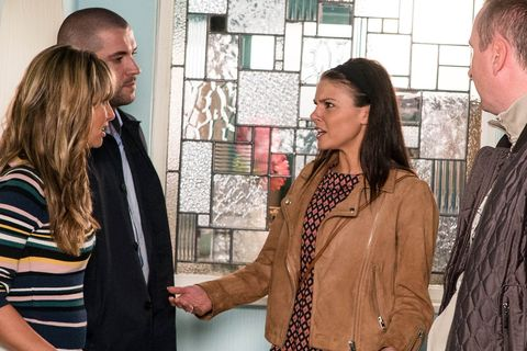 Maria Connor finds herself accused of hurting Caz in Coronation Street