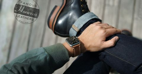 Casetify Horween Leather Apple Watch strap