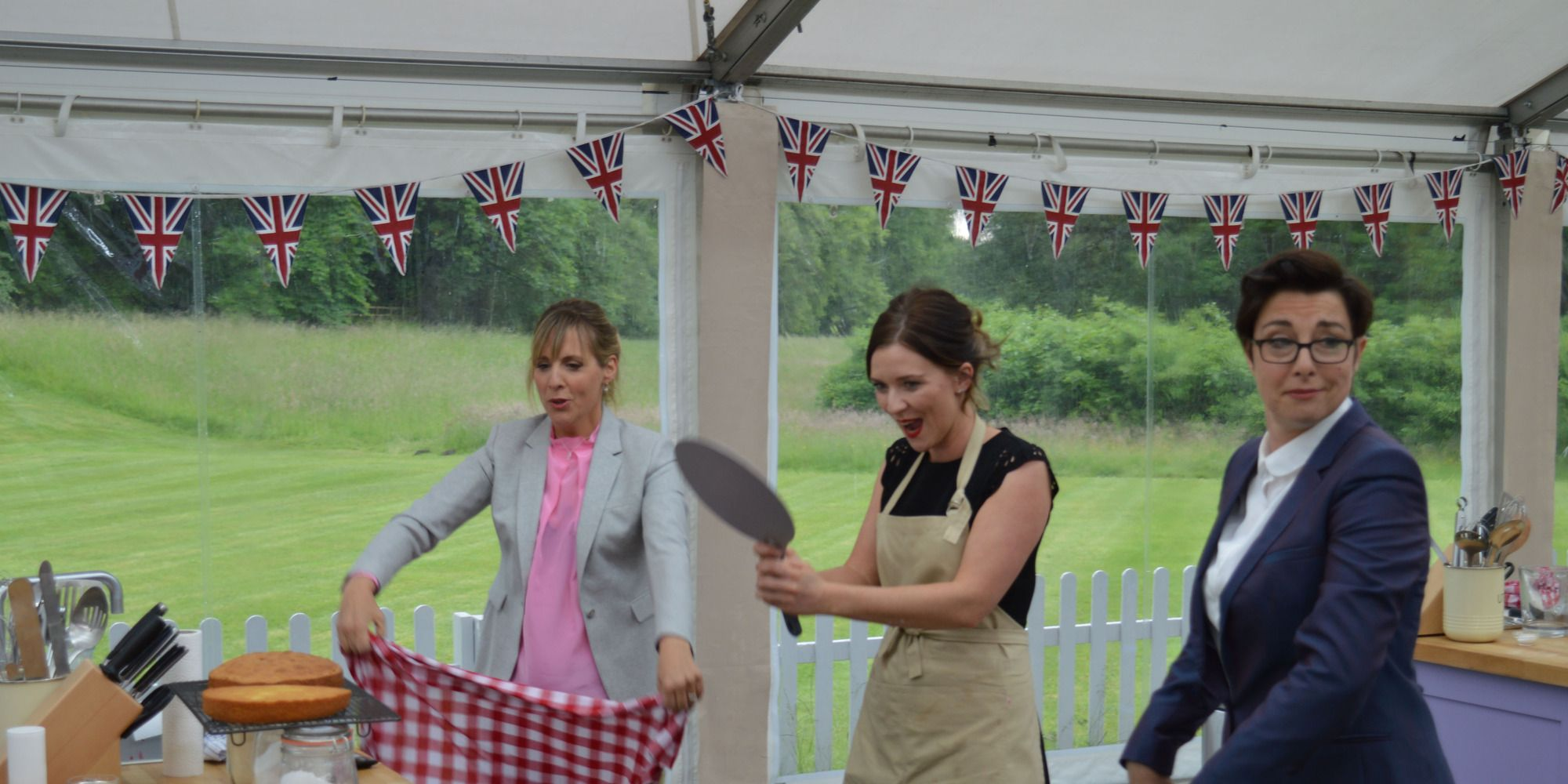The Great British Bake Off 2016 final: Candice Brown, Mel & Sue