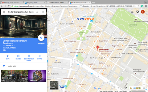 Doctor Strange's home is now on Google Maps on