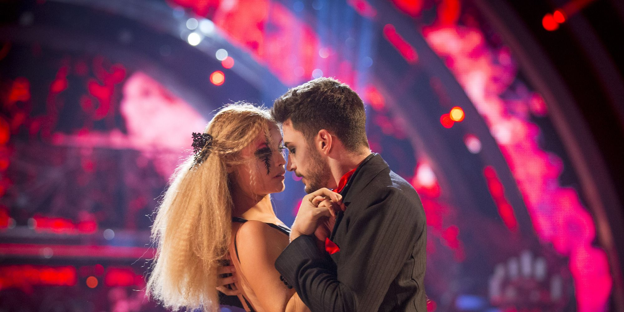 Laura Whitmore and Giovanni Pernice on Strictly Come Dancing Halloween show