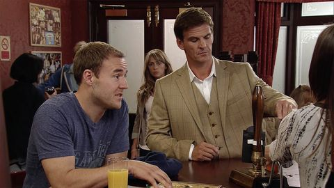 Maria Connor thinks Tyrone Dobbs and Michelle Connor are bitching about her in Coronation Street
