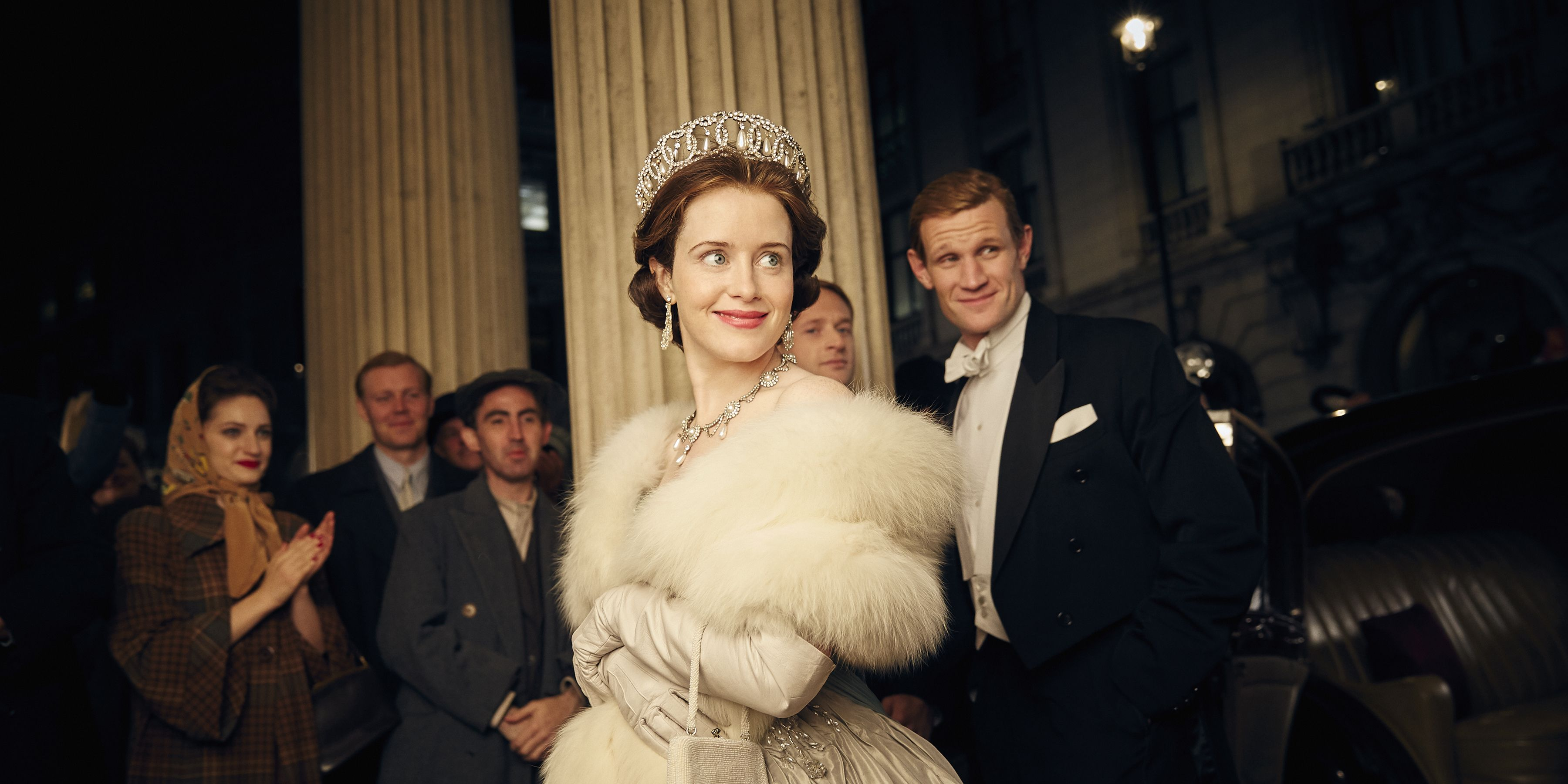 Claire Foy and Matt Smith in Netflix's The Crown