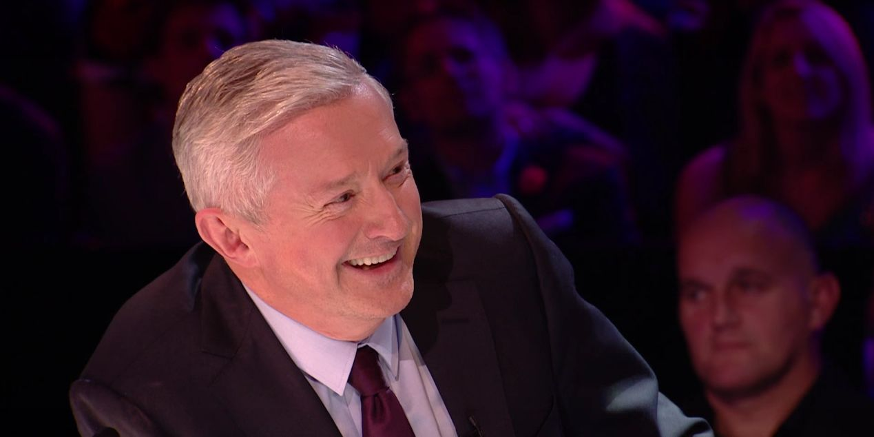 Louis Walsh happy on The X Factor