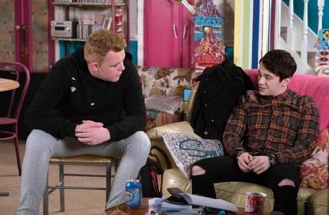 Craig has a word with Seb in Coronation Street